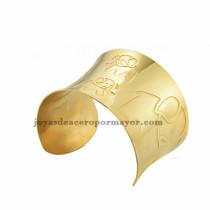 pulsera de image elefante en acero dorado inoxidable para dama -SSBTG213400