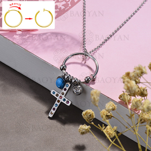 collar de DIY en acero inoxidable -SSNEG143-15492