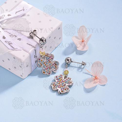 pendientes de Acero Inoxidable multicolor para Mujer -SSEGG142-14709