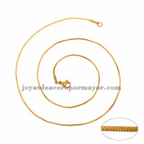 cadena 1mm estilo simple dorado   en acero inoxidable-SSCDG46189