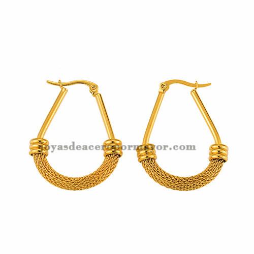 aretes de dorado en acero inoxidable para mujer -SSEGG262453