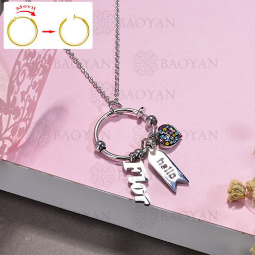 collar de DIY en acero inoxidable -SSNEG143-15516