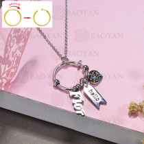 collar de DIY en acero inoxidable -SSNEG143-15516