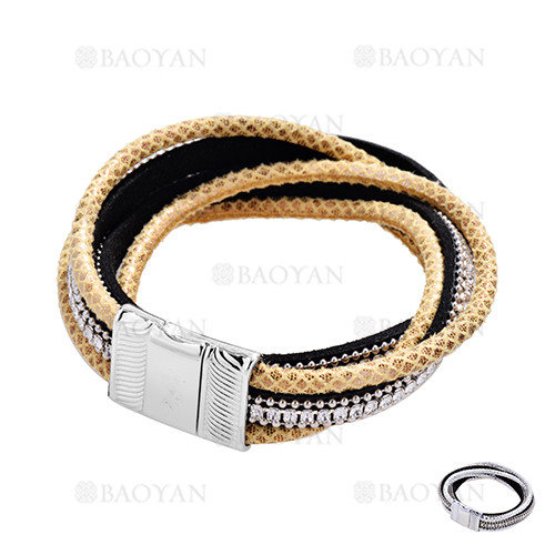 pulsera de moda con cristal blanca para mujer-ACBTG119129