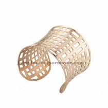 pulsera de forma malla en acero rosado inoxidable para dama -SSBTG213375