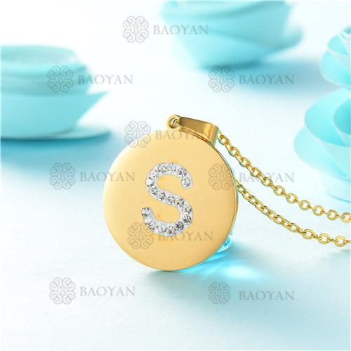 Collar de Acero Inoxidable -SSNEG143-9768