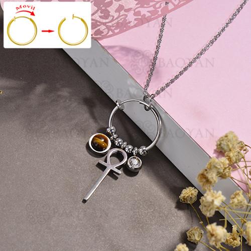 collar de DIY en acero inoxidable -SSNEG143-15508