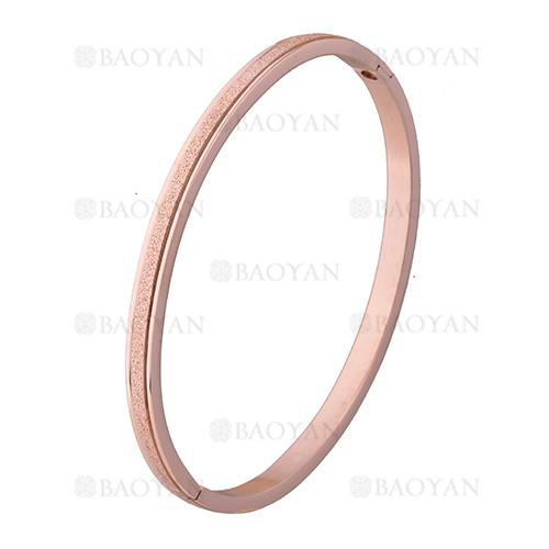 pulsera rosado rayas brillo en acero inoxidable - SSBTG1225559