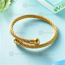 pulsera dorado en acero inixidable-SSBTG26-9128