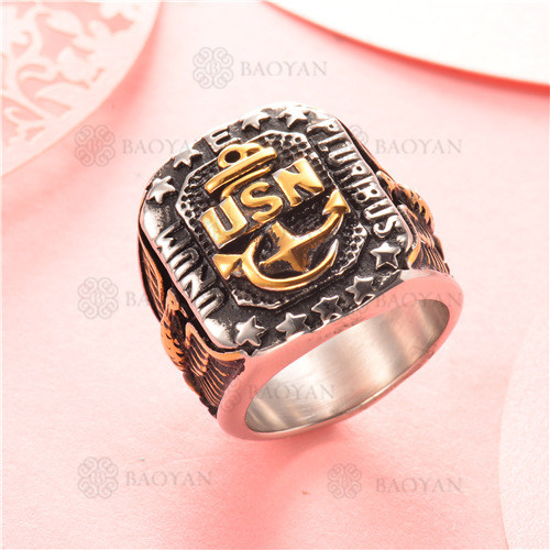 anillo de acero inoxidable para hombre -SSRGG97-2336