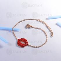 Pulsera de Acero Inoxidable Cristal para Mujer -SSBTG143-14803-R