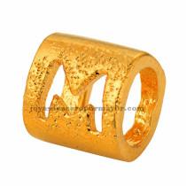 abolarios de  letra  M  dorado oro laminado-BRPTG90057