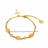 brazalete de santa maria dorado en acero inoxidable-SSBTG072735