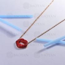 collar de acero inoxidable para mujer -SSNEG143-14803-R