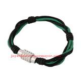 pulsera de artesanales negro y verde en acero inoxidable de plateado-SSBTG163708
