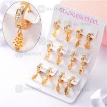 argollas de acero dorado inoxidable-SSEGG26-7263