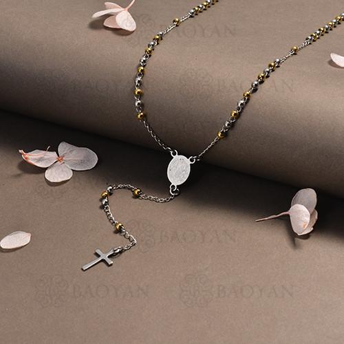 rosario en acero inoxidable -SSNEG95-16397