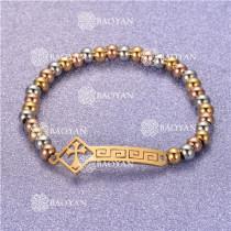 Pulsera con Bolitas Oro Dorado Para Mujer -SSBTG95-6280