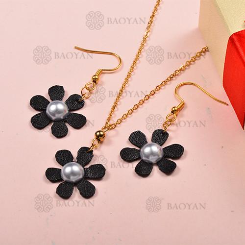 Conjunto de Collar y Aretes Fatansia -SSNEG142-12707