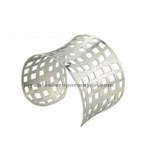 pulsera de forma malla en acero plateado inoxidable para dama -SSBTG213373
