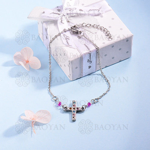 pulsera de Acero Inoxidable multicolor para Mujer -SSBTG142-14701