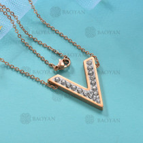 Collar de Acero Inoxidable para Mujer -SSNEG143-12027