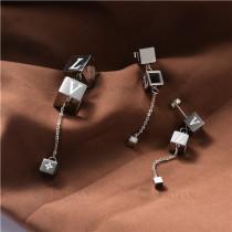juego collar y aretes en acero inoxidable-SSNEG129-10030