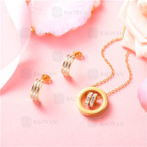 conjunto de joyas acero dorado inoxidable -SSNEG129-9699