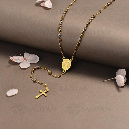 rosario en acero inoxidable -SSNEG95-16401