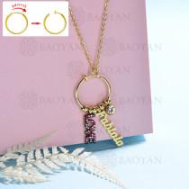 collar de DIY en acero inoxidable -SSNEG143-15440