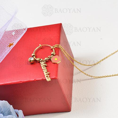 collar de charms DIY en acero inoxidable -SSNEG142-16252