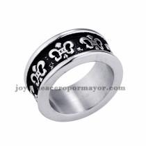 anillo de estilo retro en acero plateado inoxidable -SSRGG971659