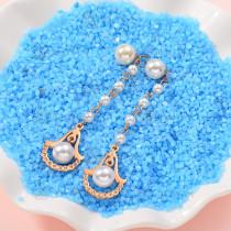 Aretes de Perlas de Acero Inoxidable -SSEGG143-9293