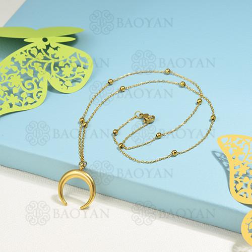 collar de charms en acero inoxidable -SSNEG142-16222