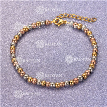 Pulsera con Bolitas Oro Dorado Para Mujer -SSBTG95-6324