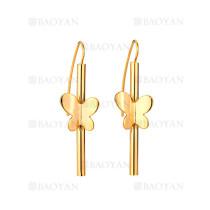 aretes con mariposa de dorado en acero-SSEGG264422