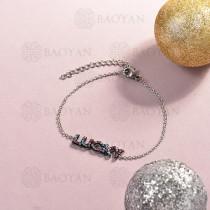 Pulsera de Acero Inoxidable Cristal para Mujer -SSBTG143-14818-S