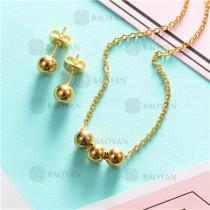 Counjunto de Collar y Aretes en Acero Inoxidable -SSNEG126-6942