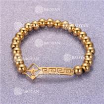 Pulsera con Bolitas Oro Dorado Para Mujer -SSBTG95-6320