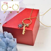 collar de charms DIY en acero inoxidable -SSNEG142-16242