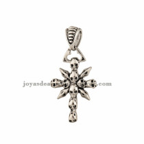 dije de santa cruz forma especial plateado en acero inoxidable-SSPTG971051