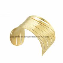 pulsera de raya dorado acero inoxidable para dama -SSBTG213376