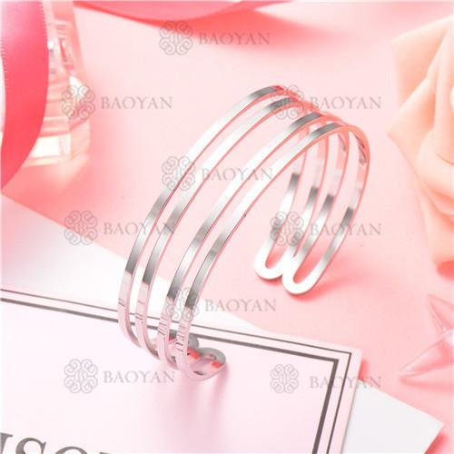 Pulsera de Acero Inoxidable para Mujer -SSBTG126-8195