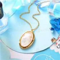 collar dorado en  acero inoxidable-SSNEG129-9640