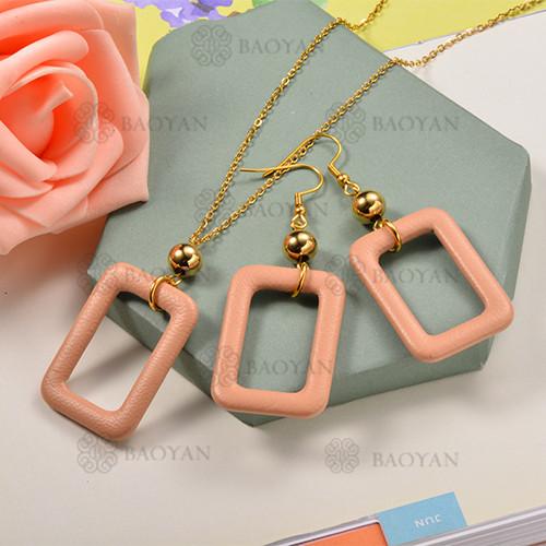 Conjunto de Collar y Aretes Fatansia -SSNEG142-12745