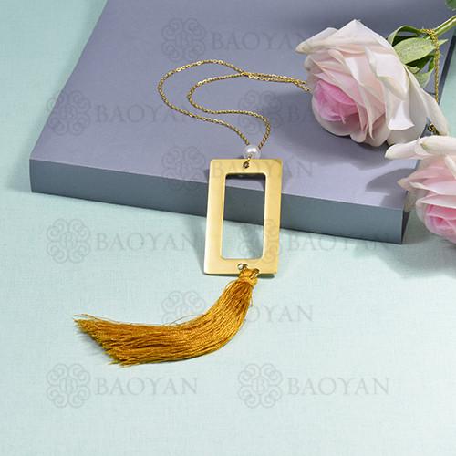 collar de borla en acero inoxidable -SSNEG142-16278