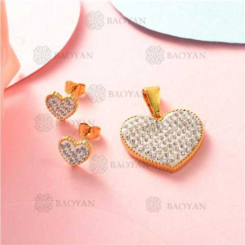conjunto de corazon  en acero inoxidable-SSSTG07-8243