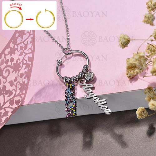 collar de DIY en acero inoxidable -SSNEG143-15507