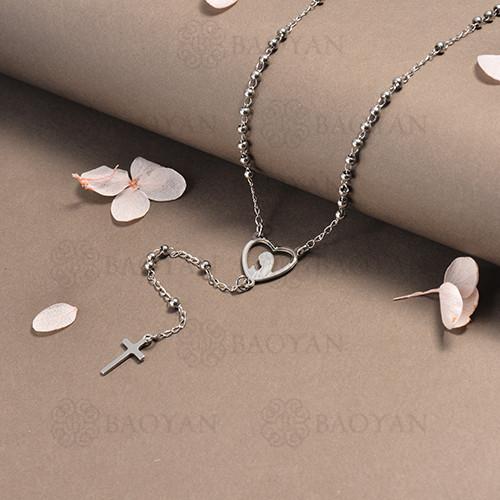 rosario en acero inoxidable -SSNEG95-16392