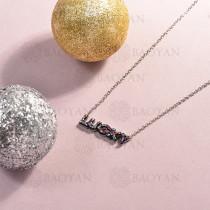 collar de acero inoxidable para mujer -SSNEG143-14818-S